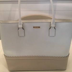 Kate Space White Tote